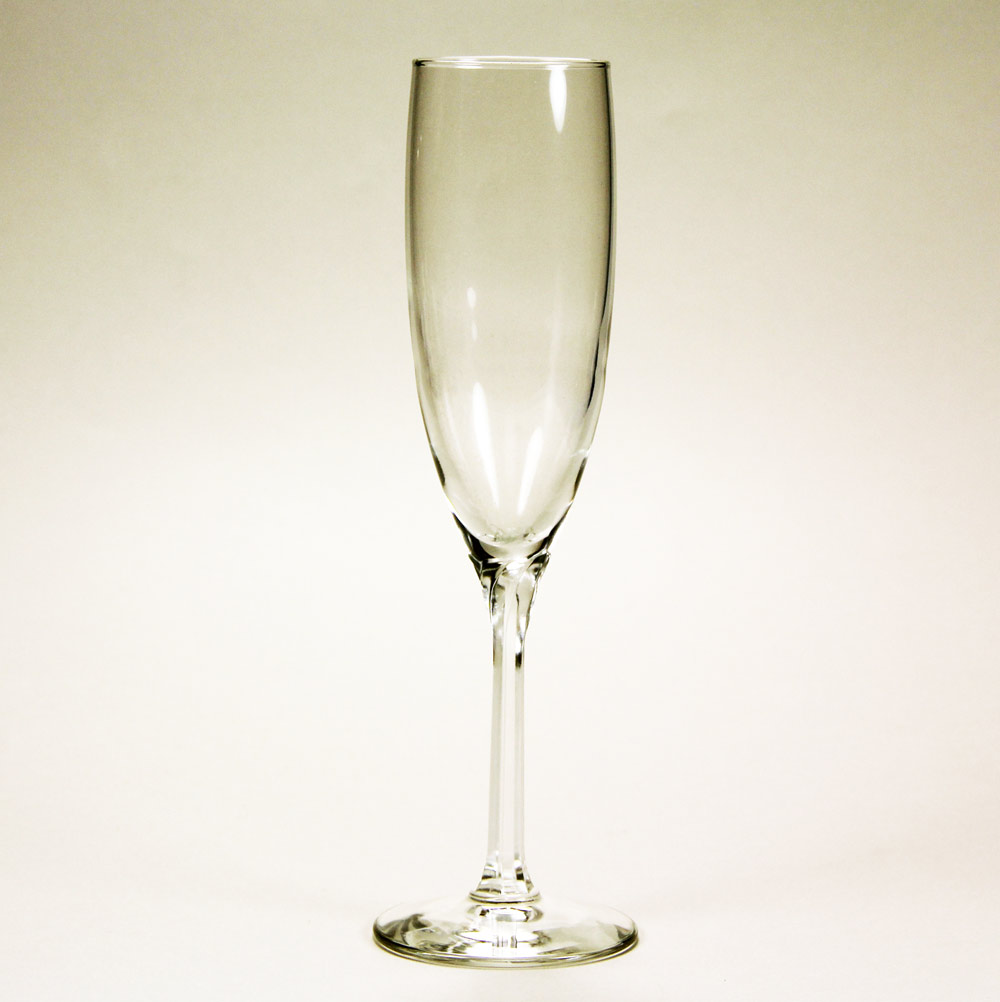 Clear Champagne Flutes  set of 2