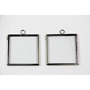 61-3395 - Frame Charm Square 2x2 Silver