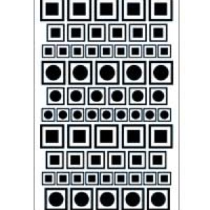 19-2701 - ETCH or  SANDETCH stencil circle/squares