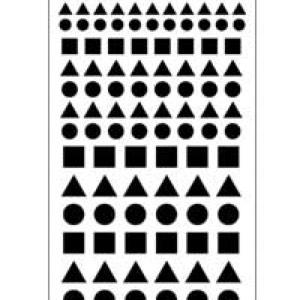 ETCH or SANDETCH stencil Sqr-Crl-Tri