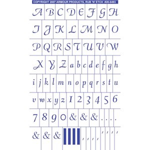 20-0493 - Script Full Alphabet with numbers