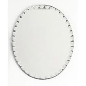 28-5041 - Scalloped 8x10 Oval Mirror Tray
