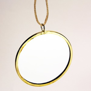 28-5103 - Circle Mirror Framed with Hanger