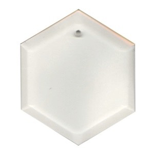 """Clear-5"""" Hexagon Thick Bevel"""
