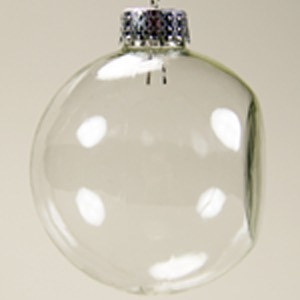 29-2535 - Flat Sided 66 mm CLEAR Glass Balls