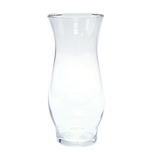 Clear Hurricane Stem Vase 6.5""