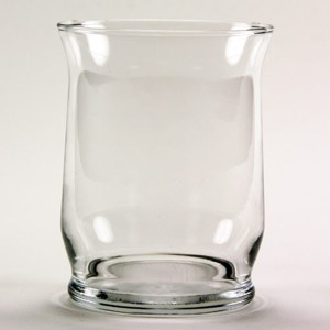30-2279 - Clear Hurricane Candle/Vase 4.375""