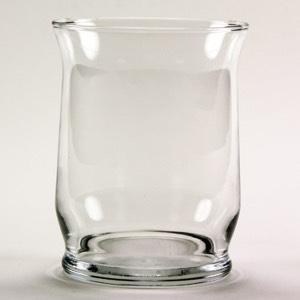 "Clear Hurricane Candle/Vase 4.375"""