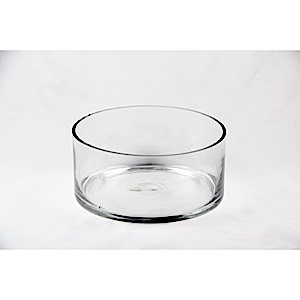 "Clear Vase 9"" dia x 4"" high"