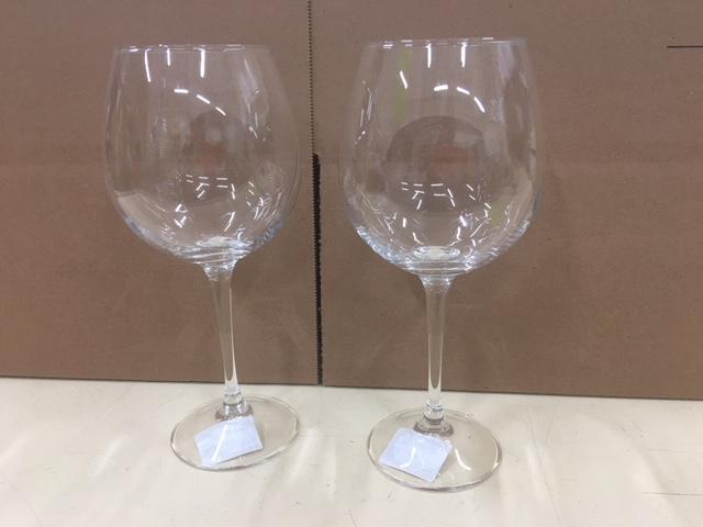 30-2366 - Clear Wine Glass 20 oz  Set of 2pc