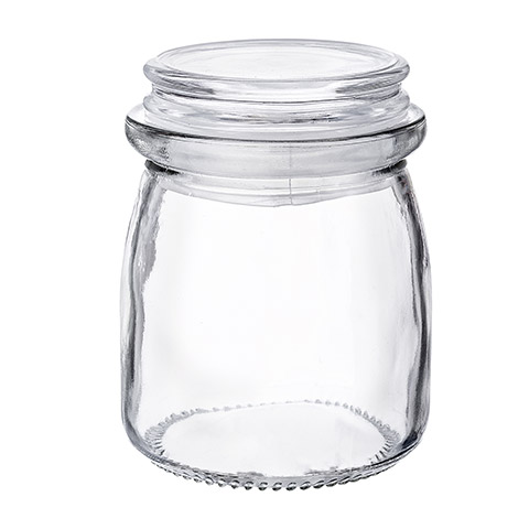 60-7027 - Glass Jar with  glass Lid