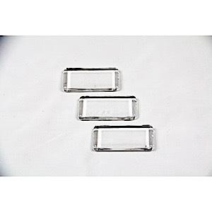 Rectangle glass tiles 3 pcs