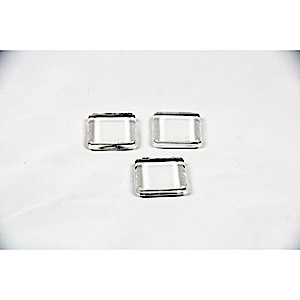Square glass tiles 3 pcs