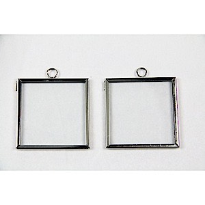 Frame Charm Square 2x2 Silver